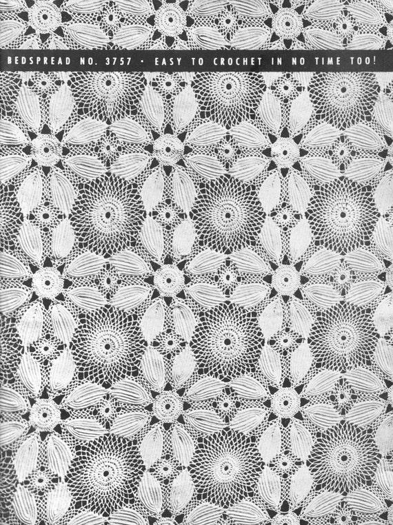 Vintage Crochet Lace Patterns Motifs Water Lily Irish Crochet