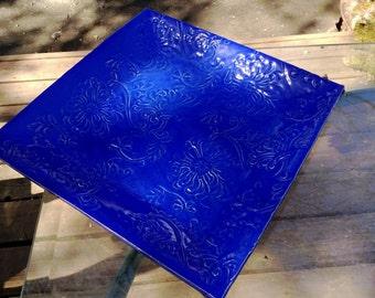 Cobalt blue tray