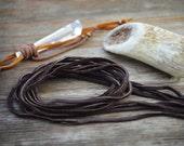 BULK Fudge Brown, Deer Suede Leather, 3mm x 40 in strap (10 pcs) / Deerskin, Deer hide, Buckskin, Soft Deer Suede, Jewelry Supplies