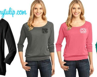 Classic Monogrammed 3/4 Sleeve Shirt
