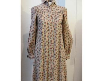 Vintage Prairie Boho smock dress 1970