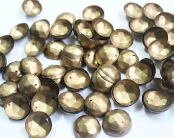 75 Round Dull Golden 3D Sequins/KBRS107
