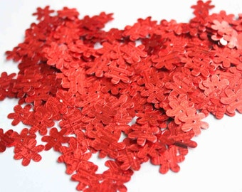 75 Textured Red Flower Sequins/KBBF474