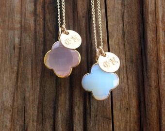 Phi Mu Necklace - Sorority Necklace - Gemstone Pendant - Phi Mu Jewelry - Sorority Jewelry - Greek Jewelry - Big Little Gift