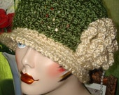 Pattern Crochet 1920's Cloche Flapper Hat with Rose Pattern(In PDF digital download) May sell finished item