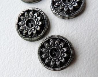 metal buttons four antique decorative buttons