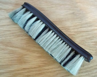 Antique Vintage Wooden Bonnet Brush with Natural Bristles