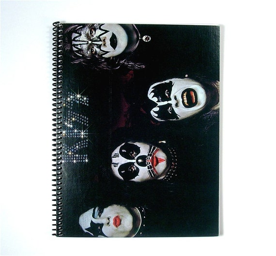 kiss spiral notebook journal vinyl record album cover art. Black Bedroom Furniture Sets. Home Design Ideas