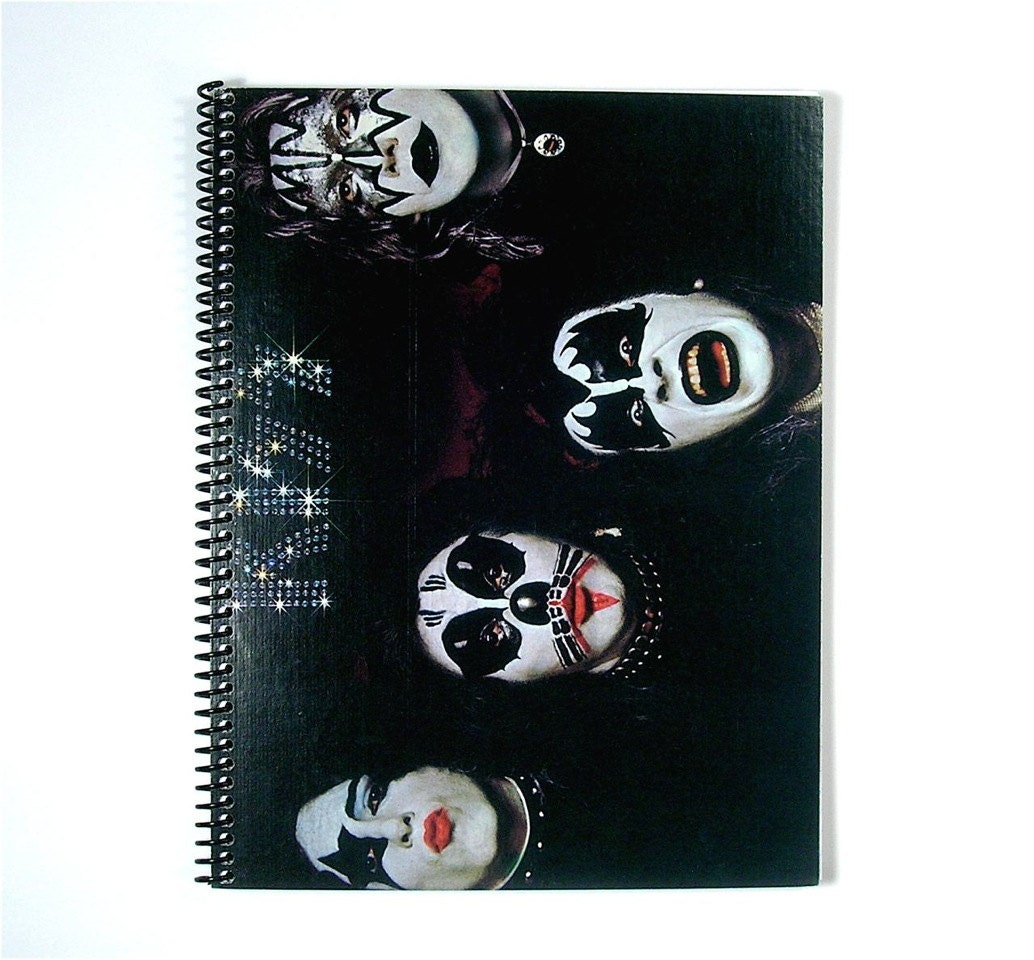 kiss spiral notebook journal vinyl record by. Black Bedroom Furniture Sets. Home Design Ideas