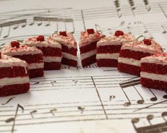 SALE 40% OFF- Red Velvet Cake Necklace