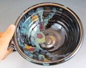 Pottery Handled Bowls Midnight Garden Handmade