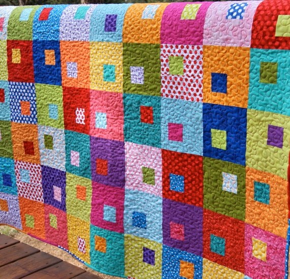 Colorful Nursery: Quilt Modern Baby Toddler Colorful Bright Nursery Crib Cot