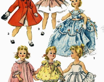 Vintage Doll Clothes PATTERN 1336 for 15 in Sweet Sue by American Character Photo Copy
