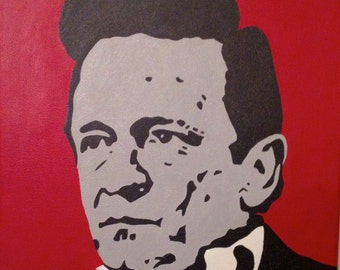 Portrait of Johnny Cash. Original painting