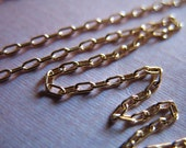 Shop Sale..6 feet, Gold Filled Chains, 2.5x1.2 mm, DRAWN CABLE, 10-18% less, 14k Gold Filled Chain, Oval Links, medium weight, ssgf sgf3