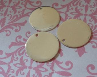 "Shop Sale..5 pcs, Round Blanks Discs, BULK, 13.5 mm, 24 gauge, over 1/2"" in inch, Sterling Silver Blanks, custom stamping blank13.5"