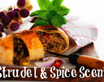 STRUDEL & SPICE Scented Soy Wax Melts - Soy Tarts - Wickless Candle - Hand Poured - Highly Scented