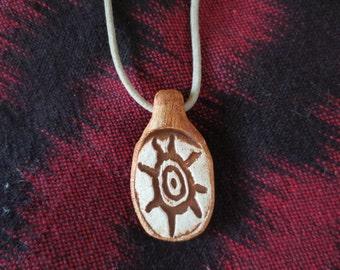 Sunwheel Native Petroglyph Jewelry Pendant Necklace
