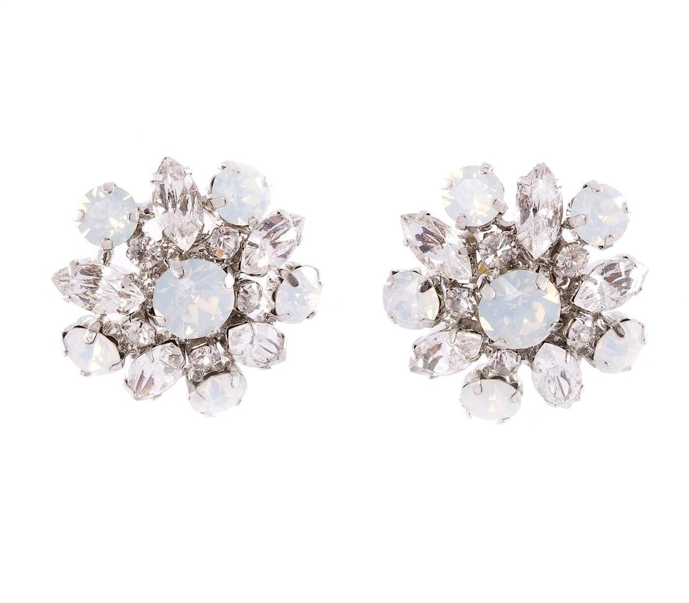 bridal stud earrings wedding earrings vintage bridal