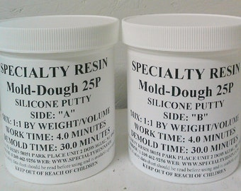 Rtv silicone mold putty for making mold impressions 2 lbs