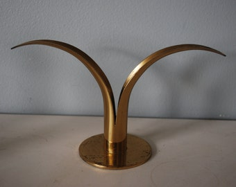 Ystad-Metall Sweden Brass Lily Candle Holder