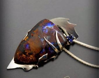 Opal Nebula Silver Pendant