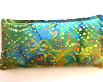 Keepin' Cozy Willy Pad:  Heating Pad, Microwaveable Warm Compress & Freezer Ice Pack, Flax Seed and Lavender, 2 Sizes Avail- Carnival Batik