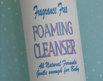 Organic FOAMING CLEANSER - Unscented all Natural Formula safe for Baby or fragrance sensitive skin