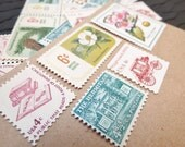 Botanical .. Estate .. UNused Vintage Postage Stamps.. to post 5 envelopes