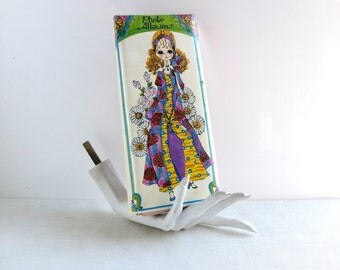 1970s Photo Album - Sally Draper Realness - Holiday Fair Photo Album - Blythe Style Big Eye Margaret Keane Girl Hippie Chic - Made in Japan