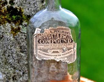 VEGETABLE COMPOUND vintage medical bottle...   Laf T 14
