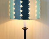 Drum Lamp Shade Lampshades Modern Pendant Pacific Blue Stripes Made to Order