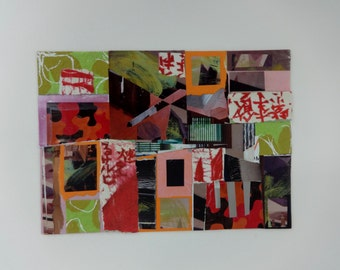 Abstract Mixed Media Collage