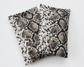 Floral Perfume Drawer Sachets, Organic Jasmine Lavender and Rose Scent Bags, Snake Print Animal Decor
