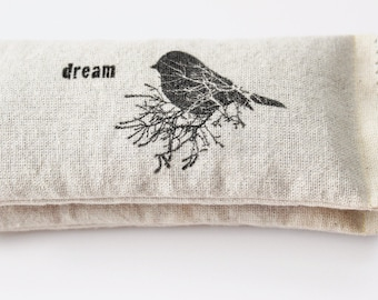 Rustic Chic Lavendar Pillows - Dream Happiness Womens Gift - Drawer Freshener Lavender Sachets - Bird Decor