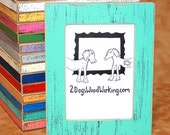 "Picture Frame 3x3, 4x4, 4x6, 5x5 or 5x7 in our ""Colored Barn wood"" colorful photo frame choose color 1.5"" wide"