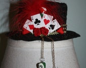 Painted Roses Alice in Wonderland Lace Mini Hat