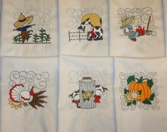 Down on the Farm Machine Embroidered Quilt Blocks Set