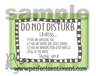 Do Not Disturb sign -GREEN dot-
