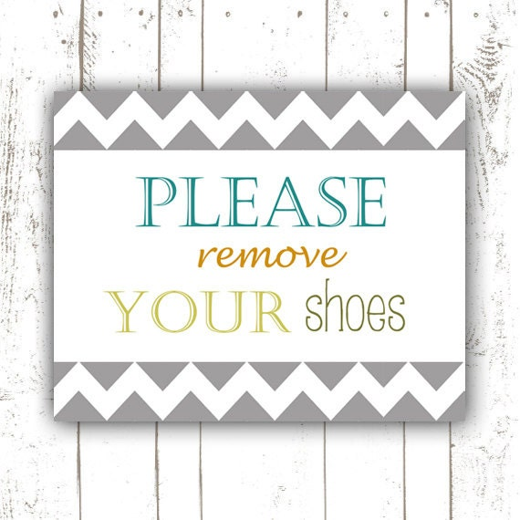 Versatile image within please remove your shoes sign printable free