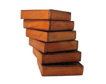 6 Small Reclaimed Wood Centerpiece Trays - Barnwood Tray - Rustic Wedding Decor