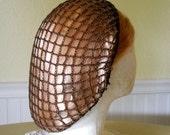 RESERVED for Stephanie - Fudge Brown Snood Hair Net