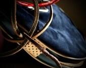 Blue Suede Bota Wine Bag / Wineskin by Bombyx.