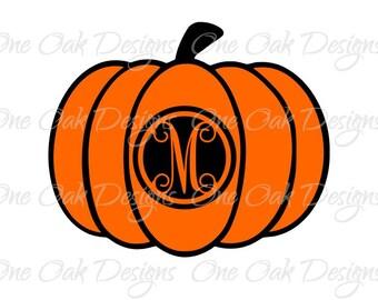 Pumpkin SVG Halloween Circle Monogram svg, dxf, pdf, jpg, png, eps, ai, svg file for Cameo V2 V2 svg file for Cricut & other cutters
