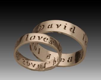 Loves Each Other- Custom Wedding Name Ring