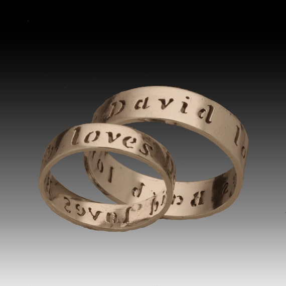 Loves Each Other- Custom Wedding Name Ring
