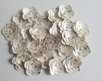 Flower Embellishments Scrapbooking Flowers Wedding Bliss