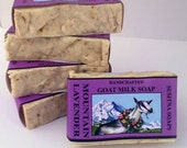 Lavender Goat Milk Soap, Handcrafted Goat Milk Soap, Lavender Bar Soap, Exfoliating Soap Bar, All Natural Soap, Handmade Soap,  Gentle Soap