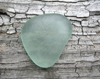 AMAZING Genuine Surf Tumbled Frosted Aqua Sea Glass Large Gem
