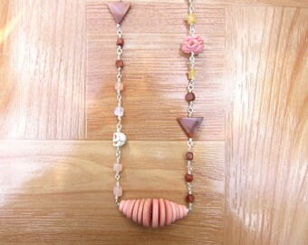 FREE SHIPPING - Long Coral Necklace